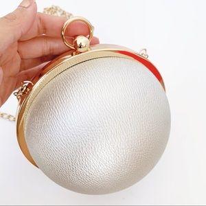 Boho Luxe Mini Ball Chain Strap Crossbody Clutch
